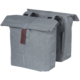 Basil City Double Pannier Bag 28-32l, grey melee